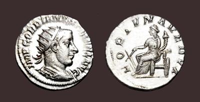 Fortvna Redvx Roman Coin Silver Antoninianus Gordian Iii 238-244 Ad Coins Ancient